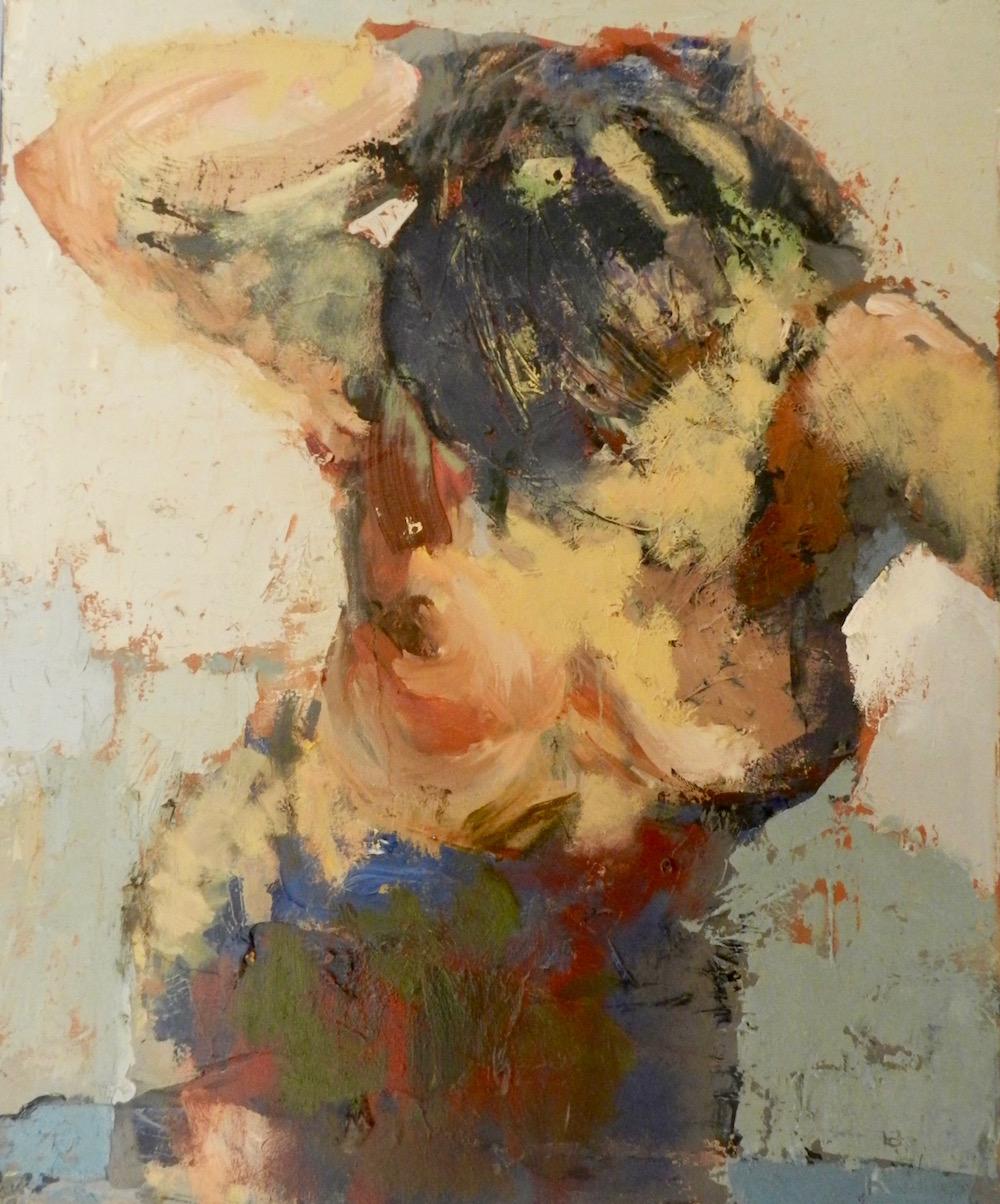 AUX BAINS, acrylique sur toile, cm 70x63
