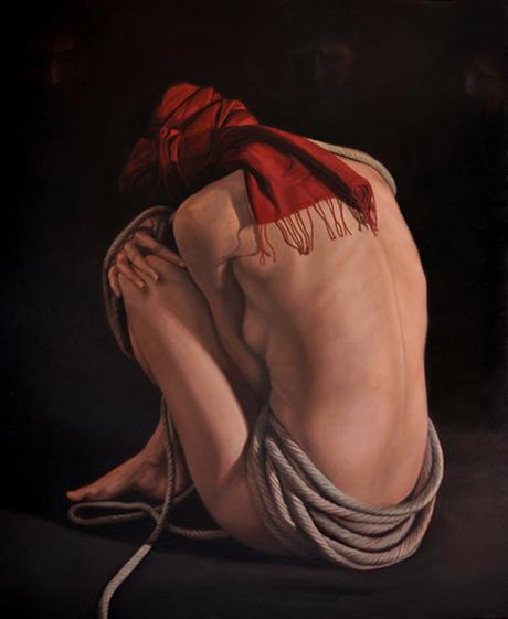 EVE, 2012, huile sur toile, cm 100 x 120