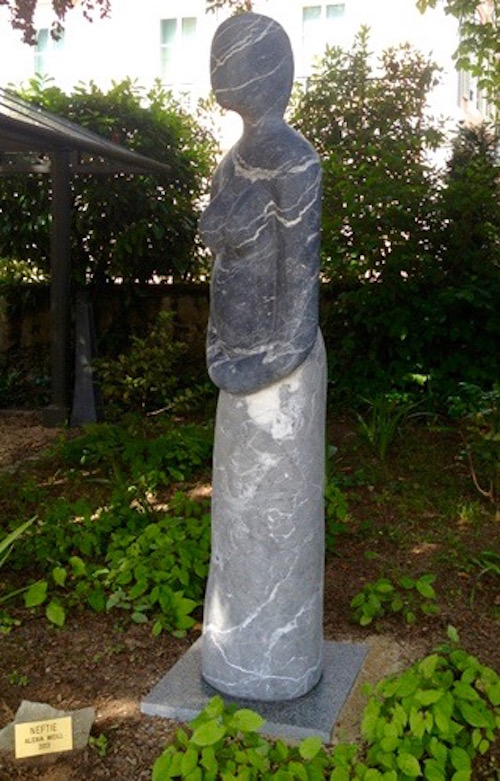NEFTIE, marbre noir Marquina, cm 170x30x30