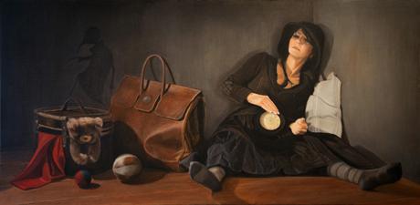 LE VOYAGE, 2011, huile sur toile, cm 120 x 60