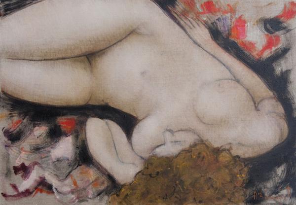 MILLA, huile sur toile de lin, cm 50 x 73
