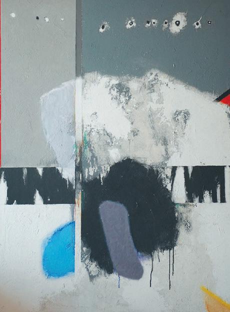 ABSTRAIT, 1974, acrylique sur panneau, cm 95 x 135