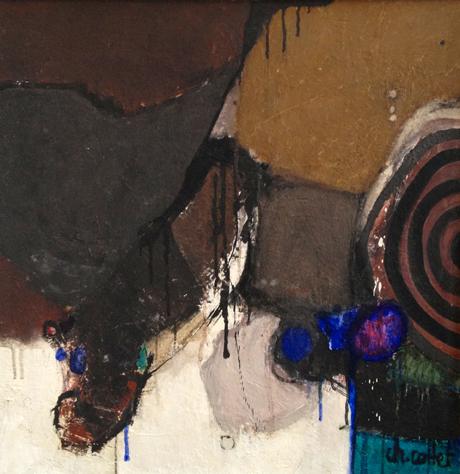 ABSTRAIT, acrylique sur panneau, cm 60 x 60