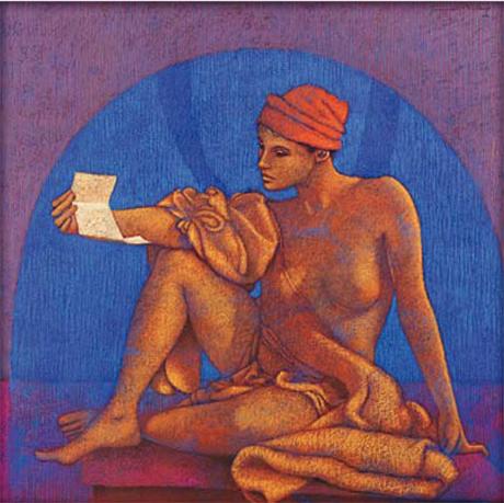 LA LETTRE, 2011, technique mixte, cm 82 x 81
